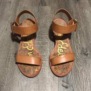 Sam Edelman Gold Heeled Sandals 👡